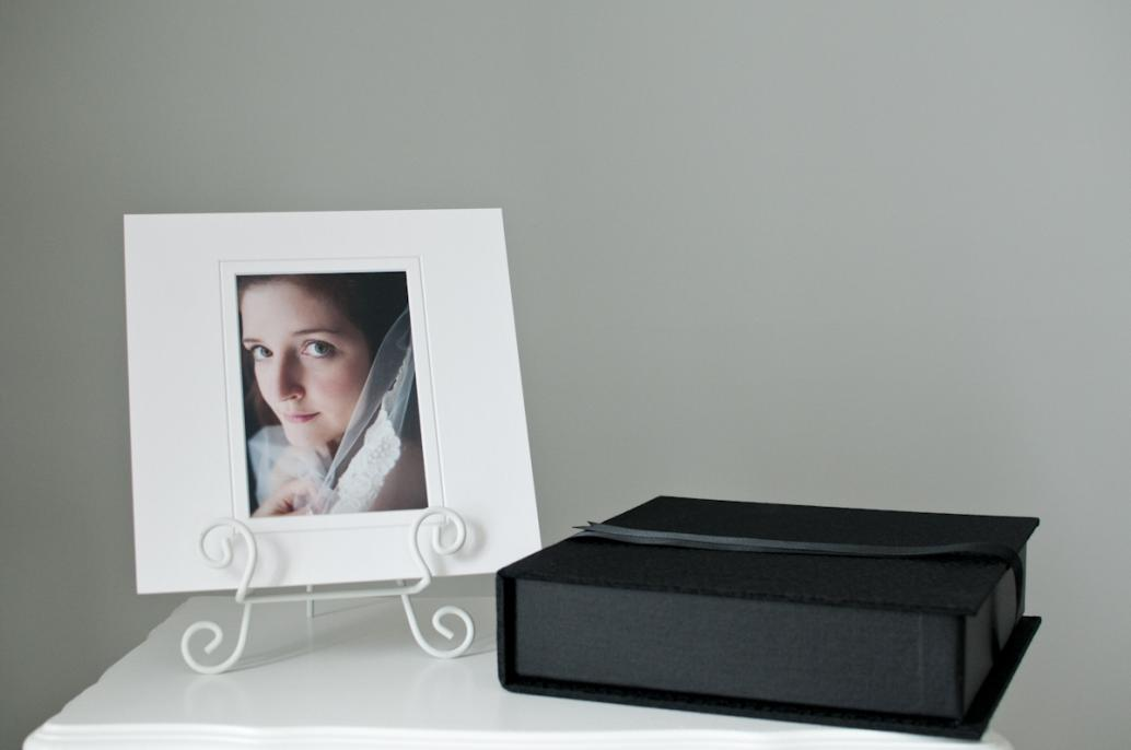 "10""x10"" professionally mounted print and portfolio box."